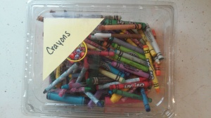 Crayons after