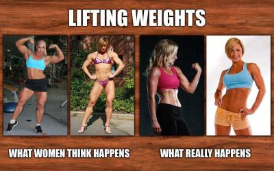 lifting-weights what women think happens vs what actually happens